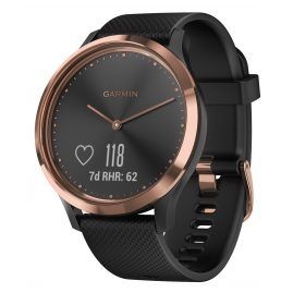 Garmin 010-01850-06 vivomove HR Sport Ladies' Smartwatch S/M Rose/Black