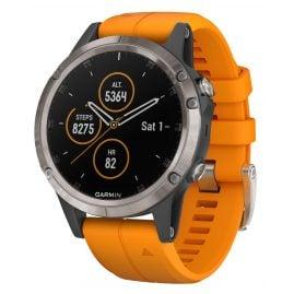 Garmin 010-01988-05 fenix 5 Plus Sapphire Titanium GPS Multisport Smartwatch