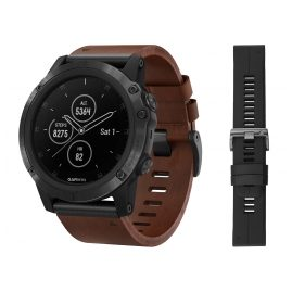 Garmin 010-01989-03 fenix 5X Plus Sapphire GPS Multisport Smartwatch Black