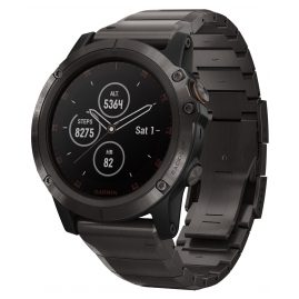Garmin 010-01989-05 fenix 5X Plus Saphir Titan GPS Multisport Smartwatch