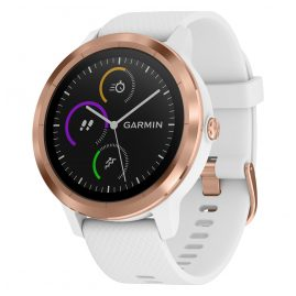 Garmin 010-01769-05 vivoactive 3 GPS Multisport Smartwatch White/Rose