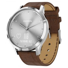 Garmin 010-01850-AD vivomove HR Premium Fitness Tracker Smartwatch Brown