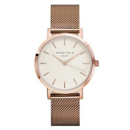 Rosefield MWR-M42 The Mercer White/Rose Gold Armbanduhr