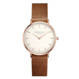 Rosefield TWBRRC-T55 The Tribeca White/Brown/Rosegold Uhr