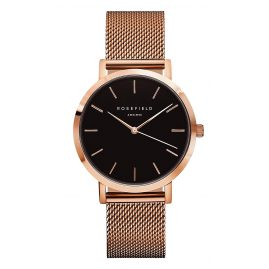 Rosefield MBR-M45 Ladies Watch The Mercer Black/Rose Gold