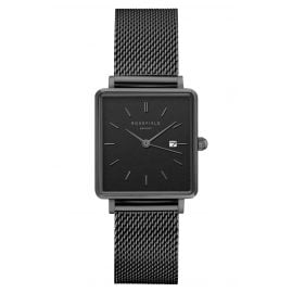 Rosefield QBMB-Q04 Damenuhr The Boxy Mesh-Black