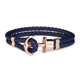 Paul Hewitt PH-PH-L-R-N Anchor Bracelet PHREP Navy-Blue/Rose