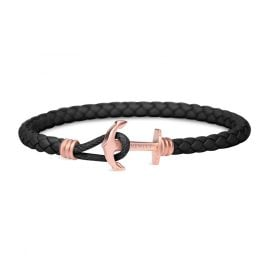 Paul Hewitt PH-PHL-L-R-B Anchor Bracelet PHREP Lite Black/Rose