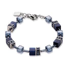 Coeur de Lion 4322/30-722 Damen-Armband Geo Cube Navy