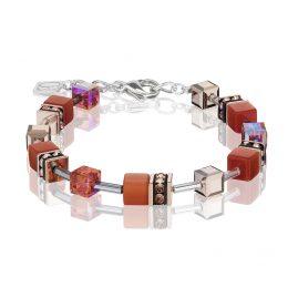 Coeur de Lion 4016/30-0221 Damen-Armband GeoCUBE Dunkelorange