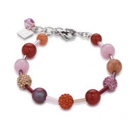 Coeur de Lion 4887/30-0219 Armband Orange-Rosa