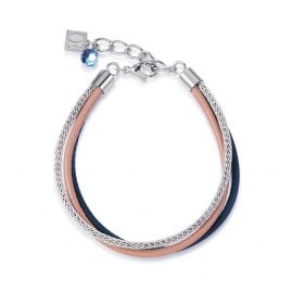 Coeur de Lion 4922/30-0710 Damen-Armband Blau/Beige