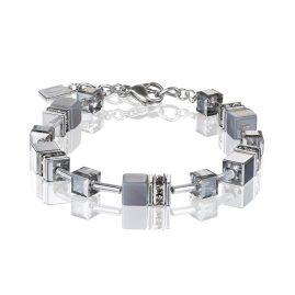 Coeur de Lion 4017/30-1220 Damen-Armband Achat/Hämatit Hellgrau