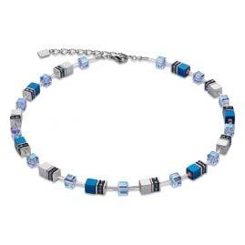 Coeur de Lion 4015/10-0700 Damen-Collier Geo Cube Blau