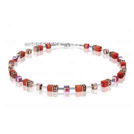 Coeur de Lion 4016/10-0221 Ladies Necklace GeoCUBE Dark Orange