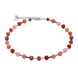 Coeur de Lion 4887/10-0219 Damen-Collier Orange-Rosa