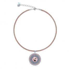 Coeur de Lion 4954/10-1906 Ladies´ Necklace Rose-Tone/Turquoise