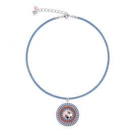 Coeur de Lion 4954/10-2003 Ladies´ Necklace Aqua/Red