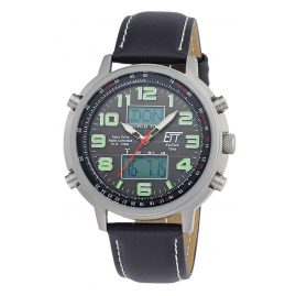 ETT Eco Tech Time EGS-11301-22L Solar Drive Funk Herrenuhr Hunter II