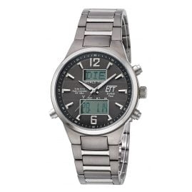 ETT Eco Tech Time EGT-11324-11M Solar Drive RC Mens Wristwatch Everest II