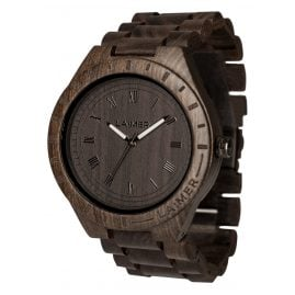 Laimer 0018 Mens Wood Watch Black Edition