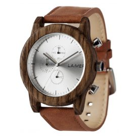 Laimer 0059 Mens Wood Watch Chronograph Paul