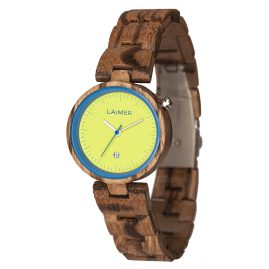 Laimer 0053 Wooden Ladies Watch Nicky Blue