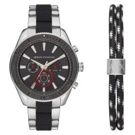Armani Exchange AX7106 Herren-Chronograph und Armband im Set