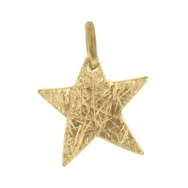 Ernstes Design AN509 Pendant Star Stainless Steel Gilded