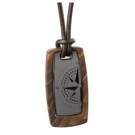 Ernstes Design K602.B.54 Herren Leder-Halskette