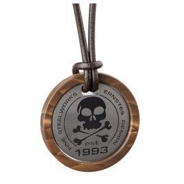 Ernstes Design K667.B.54 Herren-Halskette mit Totenkopf-Anhänger
