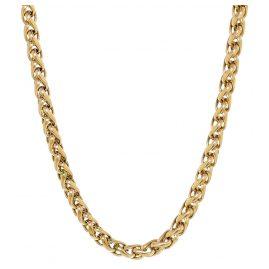 Ernstes Design AK11 Damen-Halskette Edelstahl vergoldet