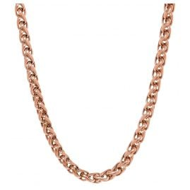 Ernstes Design AK12 Ladies Necklace Stainless Steel Rose Gilded