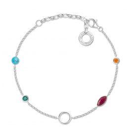 Thomas Sabo X0274-965-7-L19v Damen-Armband für Charms Farbige Steine
