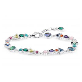Thomas Sabo A1846-985-7-L19v Damenarmband Farbige Steine