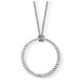 Thomas Sabo X0251-637-21 Silber Damen-Halskette für Charms Kreis Groß