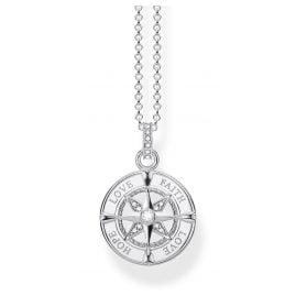 Thomas Sabo KE1849-051-14-L45v Damenhalskette Kompass Glaube, Liebe, Hoffnung