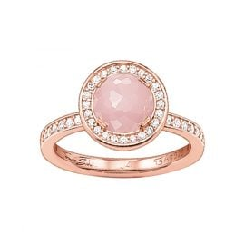 Thomas Sabo TR1971-417-9 Solitaire Ring Light of Luna Pink