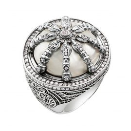 Thomas Sabo TR2025-642-14 Ladies Ring Mother-of-Pearl Karma Wheel
