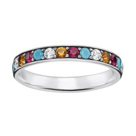 Thomas Sabo TR2178-342-7 Damen-Ring Farbige Steine