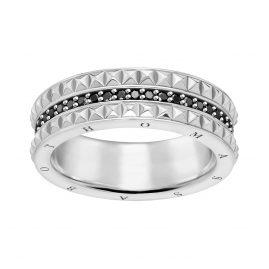 Thomas Sabo TR2189-643-11 Unisex Ring Black Studs