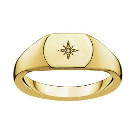 Thomas Sabo D_TR0038-924-14 Damenring Vintage Stern Gold