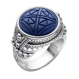 Thomas Sabo TR2204-534-1 Unisex Ring Ethno Death´s Heads blue