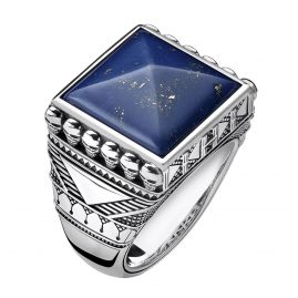 Thomas Sabo TR2206-531-1 Men´s Ring Ethno Death´s Heads blue