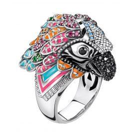 Thomas Sabo TR2227-340-7 Damenring Papagei