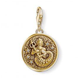 Thomas Sabo 1650-414-39 Charm-Anhänger Sternzeichen Wassermann vergoldet