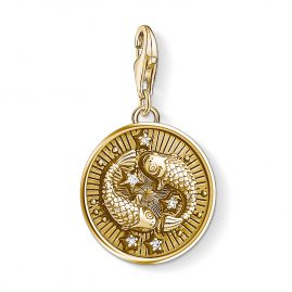 Thomas Sabo 1651-414-39 Charm Pendant Star Sign Pisces Gold Plated