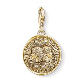 Thomas Sabo 1654-414-39 Charm-Anhänger Sternzeichen Zwillinge vergoldet