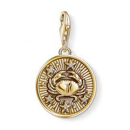 Thomas Sabo 1655-414-39 Charm-Anhänger Sternzeichen Krebs vergoldet