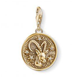Thomas Sabo 1661-414-39 Charm-Anhänger Sternzeichen Steinbock vergoldet